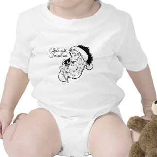 Santa no es real traje de bebé