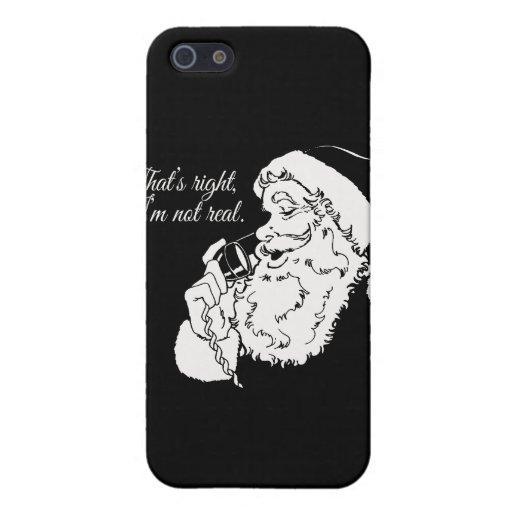 Santa no es real --.png iPhone 5 carcasas
