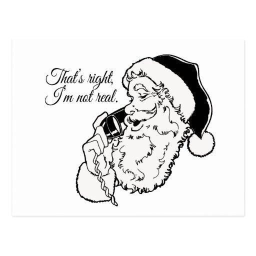 Santa no es real - .png postal