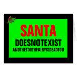 Santa no existe tarjeta