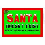 Santa no existe tarjeton