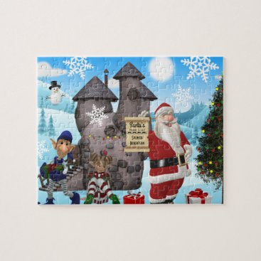 think_out_loud Santa North Pole Personalized w/Child's Name Jigsaw Puzzle