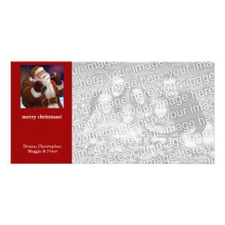 Santa Northern Lights Christmas Card