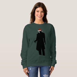 santa nosferatu xmas womens sweatshirt