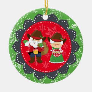 Santa occidental, 1r ornamento del navidad de seño ornamento de reyes magos