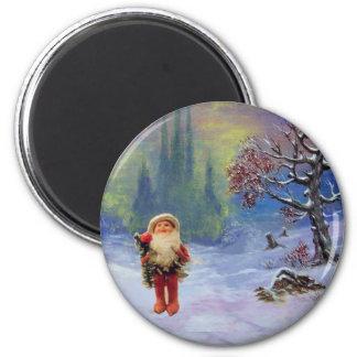 SANTA OF THE GNOMES Funny Christmas Magnet