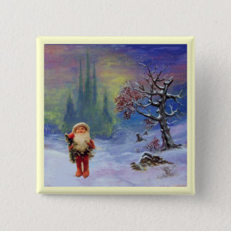 SANTA OF THE GNOMES PINBACK BUTTON