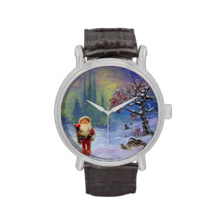 SANTA OF THE GNOMS WRIST WATCHES