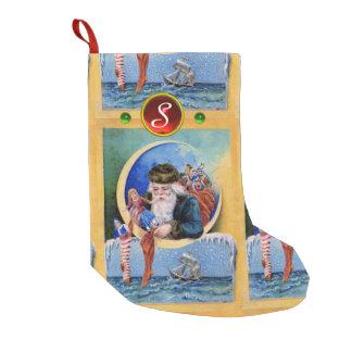 SANTA OF THE SAILORS,MOON,CHRISTMAS SOCKS AND TOYS SMALL CHRISTMAS STOCKING