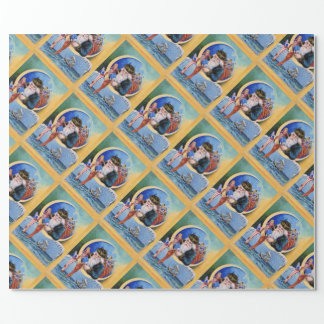 SANTA OF THE SAILORS,MOON,CHRISTMAS SOCKS AND TOYS WRAPPING PAPER