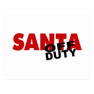 Santa Off Duty Postcard