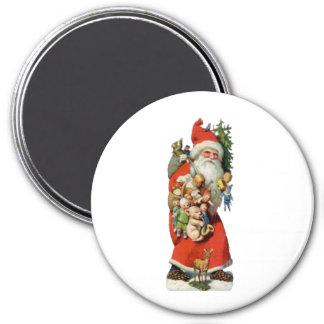 Santa Old Fashioned 3 Inch Round Magnet
