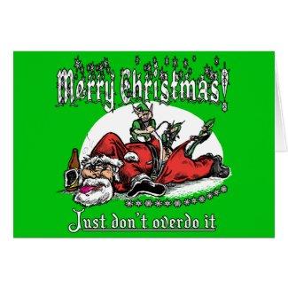 Santa on a Bender Card