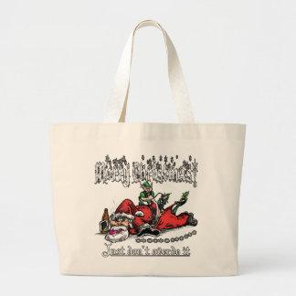 Santa on a Bender Jumbo Tote Bag
