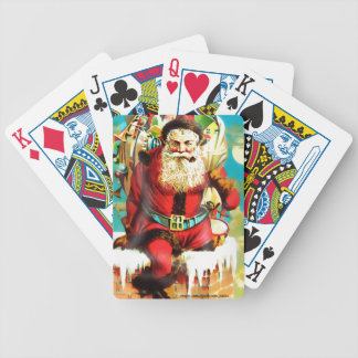 SANTA ON CHIMNEY BICYCLE PLAYING CARDS