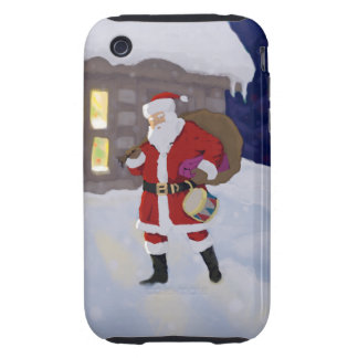 Santa on Christmas eve iPhone 3 Tough Cover