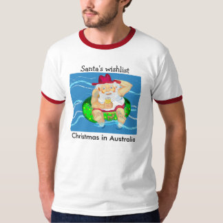 Santa on holidays - beer, a swim and time to relax T-Shirt