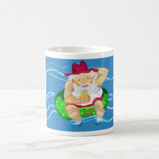 Santa on holidays coffee mug