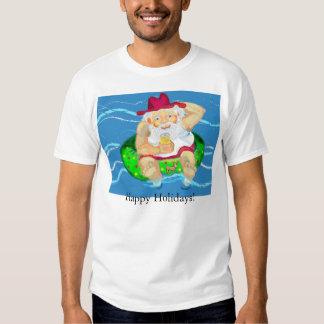 Santa on holidays t-shirt