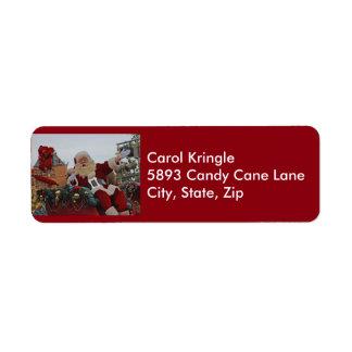 Santa on Parade Address Labels