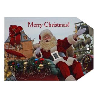 Santa on Parade Flat Card