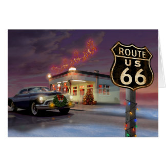 Santa on Route 66 Card