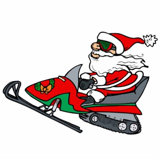 Santa On Snowmobile Cutout Zazzle