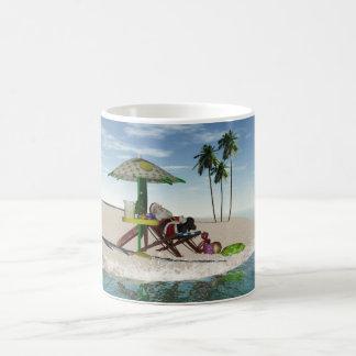 Santa On The Beach Mug For Chritsmas