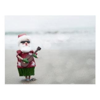 Santa On The Beach Post Cards