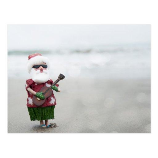 Santa On The Beach Postcard