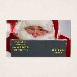Santa On The Computer Christmas Bookmark Business Card
