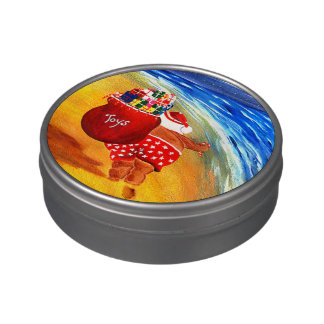 Santa On The Go..........Have a candy Candy Tins