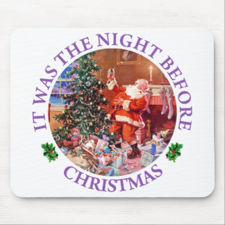 Santa on The Night Before Christmas Mouse Pad