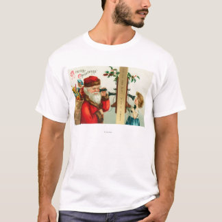 Santa on the Phone with Little Girl T-Shirt