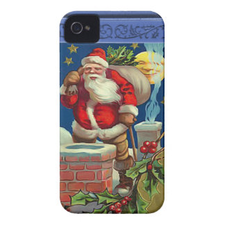 Santa on the rood down the chimneys Case-Mate iPhone 4 case