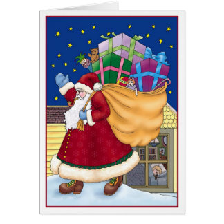 Santa on the Roof Card