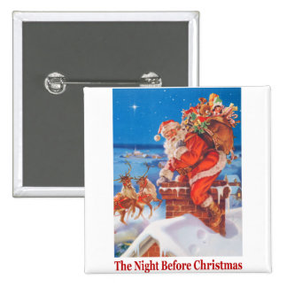 Santa On The Rooftop on the Night Before Christmas Pins