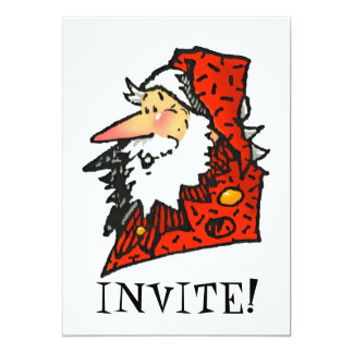 Santa or Father Christmas 5x7 Paper Invitation Card