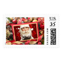 Santa or YOUR PHOTO custom Christmas stamps