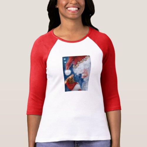 Santa Orangutan Christmas T_Shirt