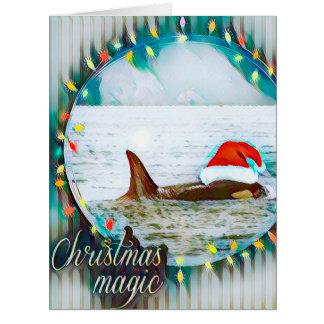 Santa Orca Christmas greeting card