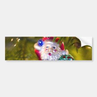Santa Ornament Bumper Sticker