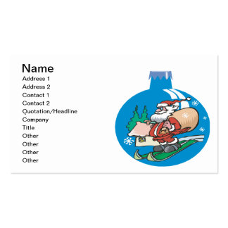 Santa Ornament Double-Sided Standard Business Cards (Pack Of 100)