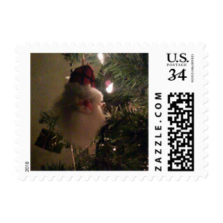 Santa Ornament in Christmas Tree Postage