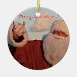 SANTA ORNAMENT- Merry Christmas!