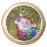 Santa Ornament Round Premium Shortbread Cookie