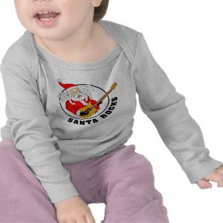 Santa oscila la ropa del bebé camisetas