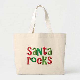 Santa oscila navidad rojo y verde bolsas de mano
