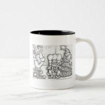 Santa Overmatched Two-Tone Coffee Mug