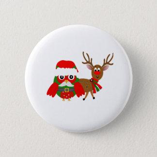 Santa Owl and Button